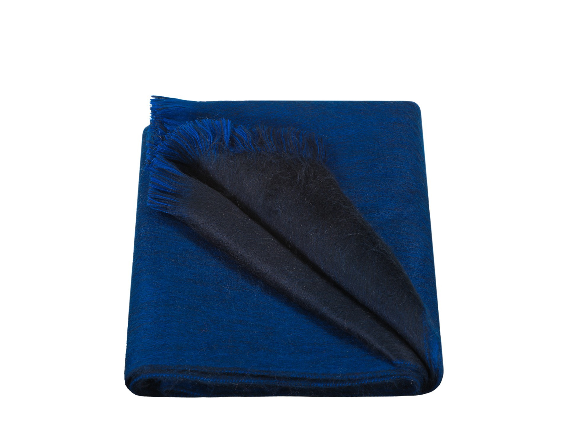 scarf double-shiny-blue-navy-blue